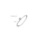 14K witgouden ring van Blush met zirkonia steentjes - Te koop bij Sparnaaij Juweliers in Aalsmeer en Hoofddorp