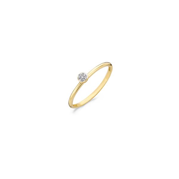 14K geelgouden ring van BLush met zirkonia steentjes - Te koop bij Sparnaaij Juweliers in Aalsmeer en Hoofddorp