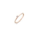 14K roségouden ring van Blush met een zirkonia steen in het midden - Te koop bij Sparnaaij Juweliers in Aalsmeer en Hoofddorp