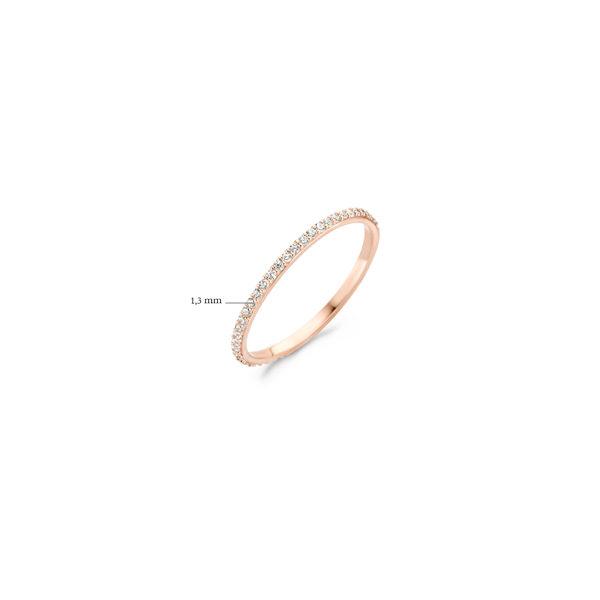 14K roségouden ring van Blush volgezet met zirkonia steentjes - Te koop bij Sparnaaij Juweliers in Aalsmeer en Hoofddorp