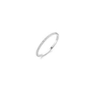 14K witgouden ring van Blush volgezet met zirkonia steentjes - Te koop bij Sparnaaij Juweliers in Aalsmeer en Hoofddorp