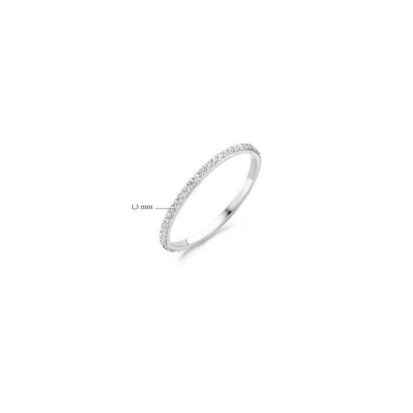4K witgouden ring van Blush volgezet met zirkonia steentjes - Te koop bij Sparnaaij Juweliers in Aalsmeer en Hoofddorp