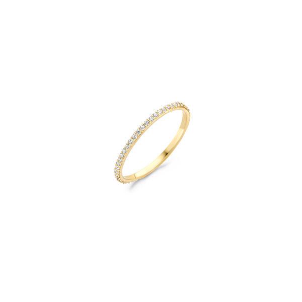14K gouden ring van Blush volgezet met zirkonia steentjes - Te koop bij Sparnaaij Juweliers in Aalsmeer en Hoofddorp