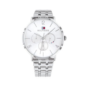 Tommy Hilfiger horloge zilverkleurig met witte wijzerplaat - Te koop bij Sparnaaij Juweliers in Aalsmeer