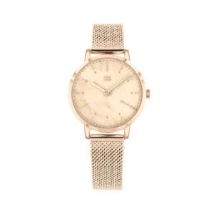 Tommy Hilfiger horloge rosekleurig met een rosewijzerplaat - Te koop bij Sparnaaij Juweliers in Aalsmeer
