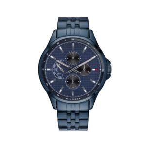 Tommy Hilfiger herenhorloge - Horloge met grijze rvs band en grijze wijzerplaat - Te koop bij Sparnaaij Juweliers in Aalsmeer