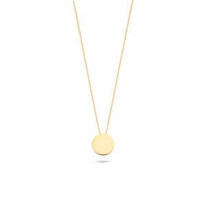 14K geelgouden collier van Blush met een ronde gladde hanger - Te koop bij Sparnaaij Juweliers in Aalsmeer en Hoofddorp