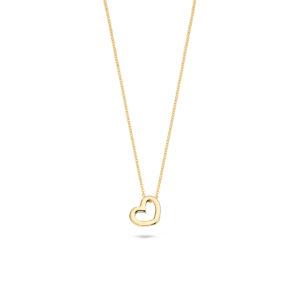 14K geelgouden collier van Blush met hartvormige hanger - Te koop bij Sparnaaij Juweliers in Aalsmeer en Hoofddorp