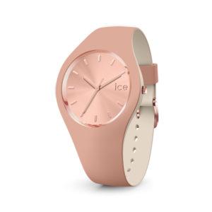 Ice-Watch horloge met beige siliconen band en roségoudkleurige wijzerplaat - Te koop bij Sparnaaij Juweliers in Aalsmeer