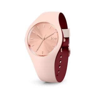 Ice-Watch horloge met siliconen beige band en roségoudkleurige band - Te koop bij Sparnaaij Juweliers