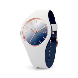 Ice-Watch horloge met wit siliconen band en blauwe wijzerplaat - Te koop bij Sparnaaij juweliers in Aalsmeer