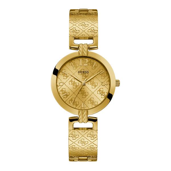 Guess G Luxe goudkleurig dameshorloge met G logo - Te koop bij Sparnaaij Juweliers in Aalsmeer en Hoofddorp