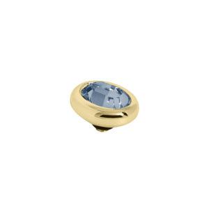 Melano Twisted oval swarovski Denim Blue 8mm- Te koop bij Sparnaaij Juweliers in Aalsmeer en Hoofddorp