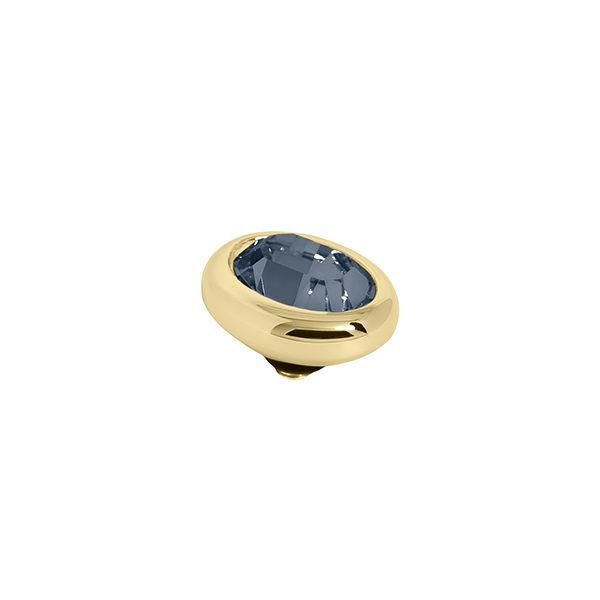 Melano Twisted oval swarovski Montana 10mm- Te koop bij Sparnaaij Juweliers in Aalsmeer en Hoofddorp