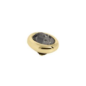 Melano Twisted oval swarovski black diamond 10mm- Te koop bij Sparnaaij Juweliers in Aalsmeer en Hoofddorp