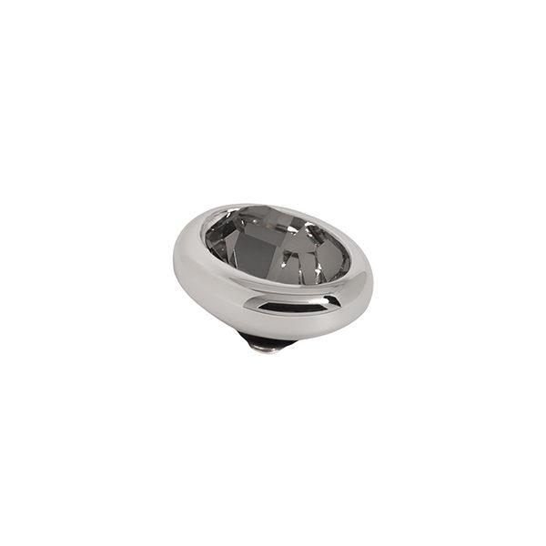 Melano Twisted oval swarovski black diamond 10 mm- Te koop bij Sparnaaij Juweliers in Aalsmeer en Hoofddorp