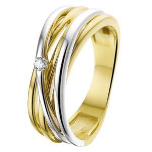 Ring diamant 0.04ct H SI