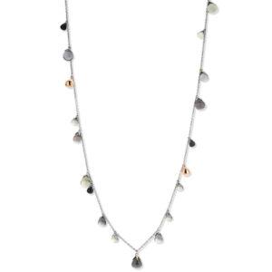 Ti Sento collier met kristallen ballen in groene en blauw grijze kleuren - Te koop bij Sparnaaij Juweliers in Aalsmeer en Hoofddorp