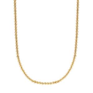 Ti Sento goudkleurig bolletjes collier gemaakt van 925 zilver - Fall Winter 2019 - Te koop bij Sparnaaij Juweliers in Aalsmeer en Hoofddorp