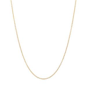 Ti Sento zilveren collier met een goudkleurige plating - verkrijgbaar in drie lengtes - Te koop bij Sparnaaij Juweliers in Aalsmeer en Hoofdddorp