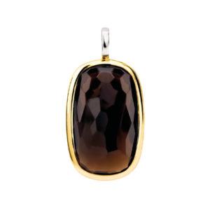 Ti Sento hanger met een bruine steen in een goudkleurige zetting - Te koop bij Sparnaaij Juweliers in Aalsmeer en Hoofddorp