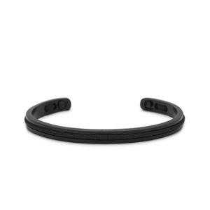 Zwarte stalen armband met zwarte details- Te koop bij Spanaaij Juweliers in Aalsmeer en Hoofddorp