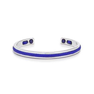 Zilver stalen armband met blauwe details- Te koop bij Spanaaij Juweliers in Aalsmeer en Hoofddorp