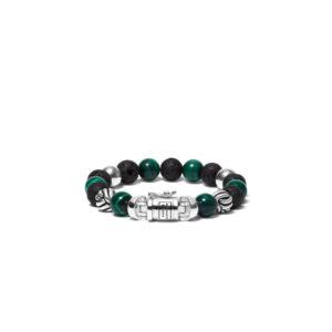 Buddha to Buddha heren kralen armband - Spirit bead mix malachiet - Te koop bij Sparnaaij Juweliers in Aalsmeer en Hoofddorp