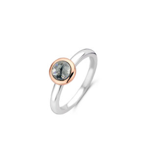 Ti Sento ring zilver met een roségouden plating - Te koop bij Sparnaaij Juweliers in Aalsmeer en Hoofddorp