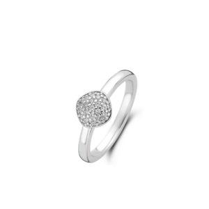 zilverkleurige solitaire ring met Zirkonia van Ti Sento - Te koop bij Sparnaaij juweliers in Aalsmeer en Hoofddorp