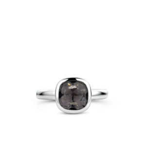 Zilveren ring met zwarte synthetische steen van Ti Sento - Te koop bij Sparnaaij juweliers in Aalsmeer en Hoofddorp