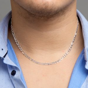 Collier figaro 4,5 mm