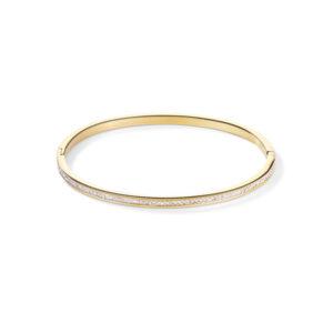 Coeur de Lion - armband staal goud verguld crystal - Te koop bij Sparnaaij Juweliers in Hoofddorp