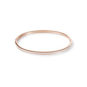 Coeur de Lion - armband rose staal verguld crystal - Te koop bij Sparnaaij Juweliers in Hoofddorp