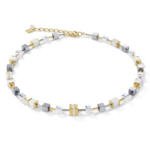 Coeur de Lion - Collier staal geelgoud verguld met crystal - Te koop bij Sparnaaij Juweliers in Hoofddorp