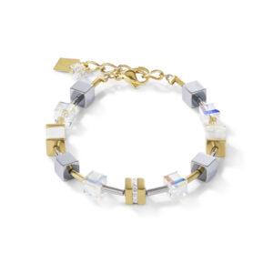 Coeur de Lion - Armband staal geelgoud verguld met crystal - te koop bij Sparnaaij Juweliers in Hoofddorp