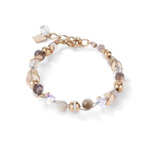 Coeur de Lion - Armband botswana agaat staal twistedpearls - Te koop bij Sparnaaij Juweliers in Hoofddorp