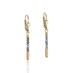 Coeur de lion oorhangers - zilver en goud verguld - Te koop bij Sparnaaij Juweliers in Hoofddorp