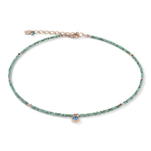 Coeur de Lion collier - groen crystal, petrol en rose - Te koop bij Sparnaaij Juweliers in Hoofddorp