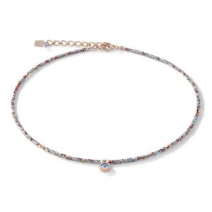 Coeur de Lion collier - blauw crystal en rose - Te koop bij Sparnaaij Juweliers in Hoofddorp