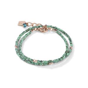 Coeur de Lion armband - groen crystal, petrol en rose - Te koop bij Sparnaaij Juweliers in Hoofddorp