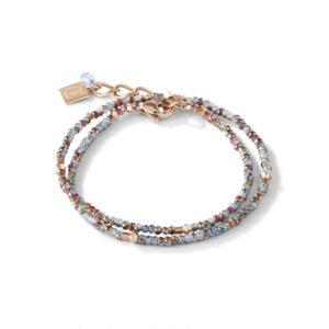 Coeur de Lion armband - lichtblauw crystal en rose - Te koop bij Sparnaaij Juweliers in Hoofddorp