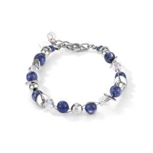 Coeur de lion - armband sodalite crystal twistedpearls - Te koop bij Sparnaaij Juweliers in Hoofddorp
