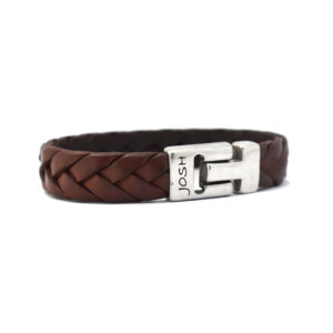 Josh armband - bruine leren armband - te koop bij Sparnaaij juweliers in Hoofddorp en Aalsmeer