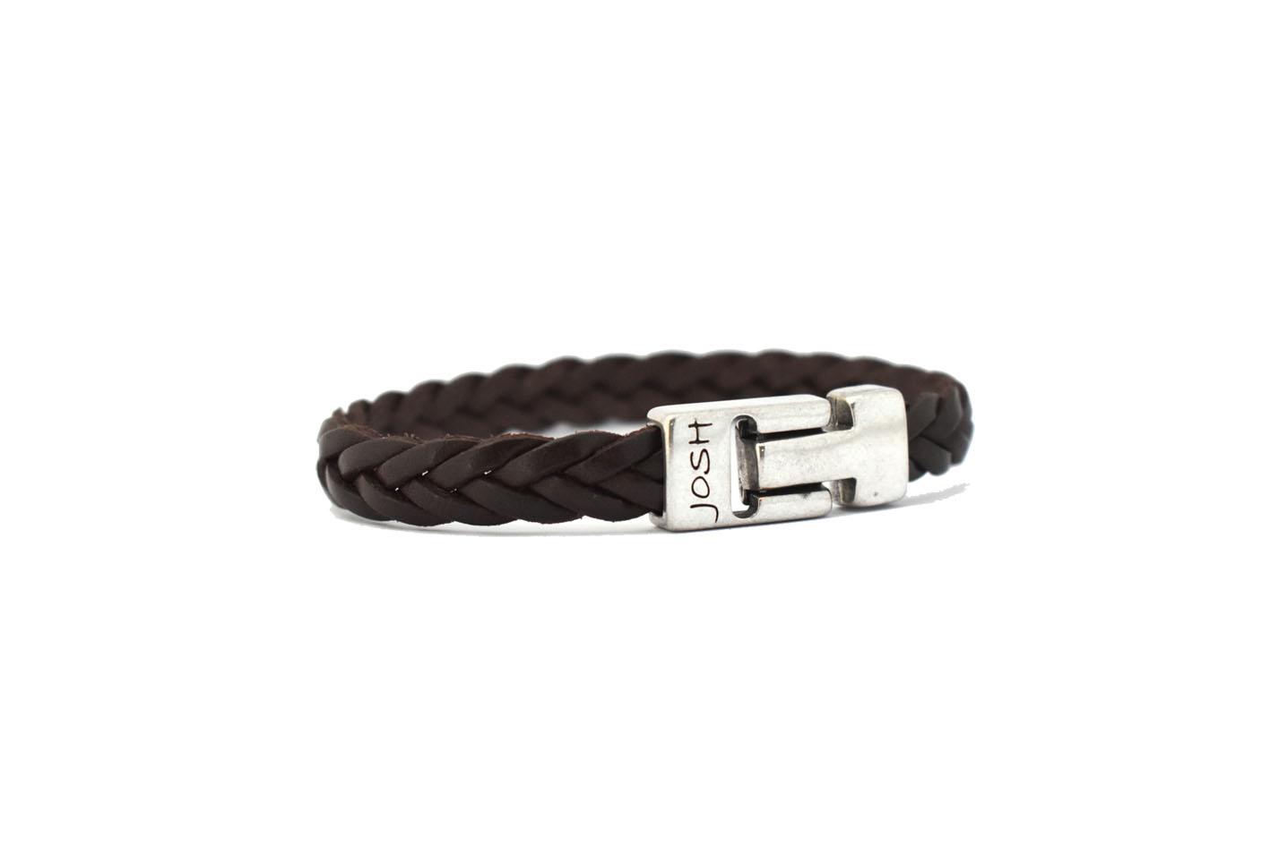 Josh armband - bruin leer - Te koop bij Sparnaaij Juweliers in Hoofddorp