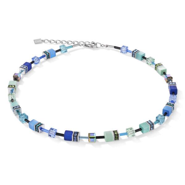 Coeur de Lion collier - groene en blauwe synthetische kristallen - te koop bij Sparnaaij Juweliers in Hoofddorp