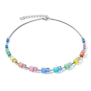Coeur de Lion collier - multicolour pastel en synthetisch crystal - Te koop bij Sparnaaij Juweliers in Hoofddorp