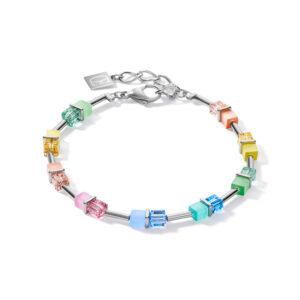 Coeur de Lion armband - multicolour pastel en synthetisch crystal - Te koop bij Sparnaaij Juweliers in Hoofddorp