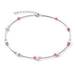 Coeur de Lion collier - hematiet en rood swarovski crystal - te koop bij Sparnaaij juweliers in Aalsmeer en Hoofddorp