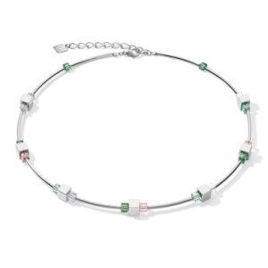 Coeur de Lion collier - hematiet en groen swarovski crystal - te koop bij Sparnaaij juweliers in Aalsmeer en Hoofddorp